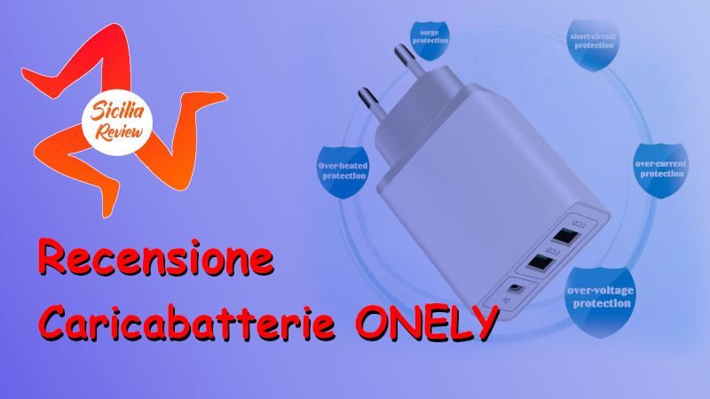 Recensione Caricabatterie Quick Charge3.0 della ONELY