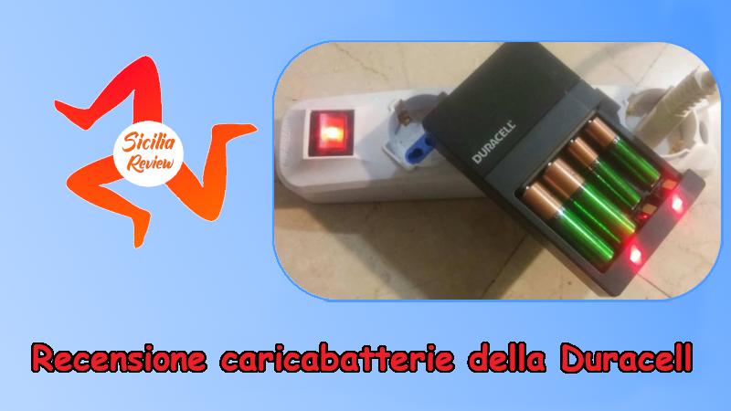 Recensione caricabatterie della Duracell