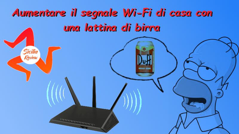 Aumentare il segnale Wi-Fi con una lattina di birra