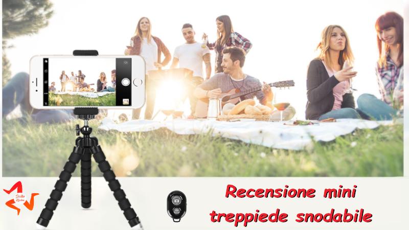 Recensione mini treppiede per smartphone